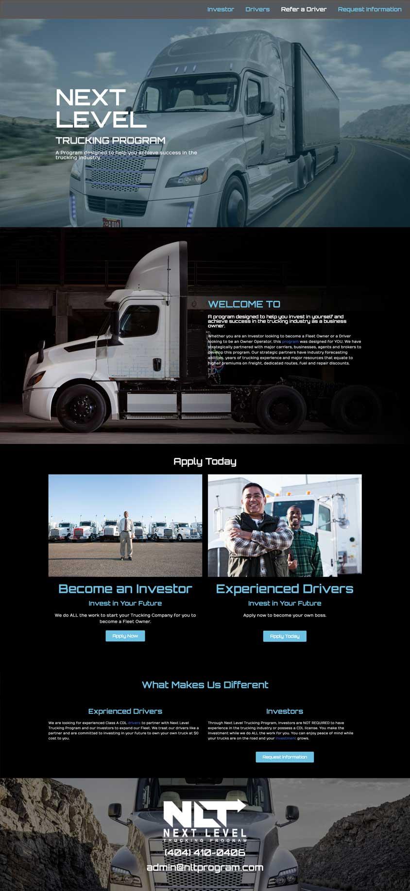 Next Level Trucking Program